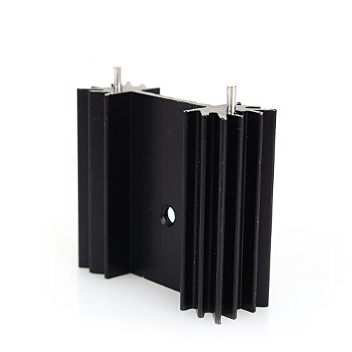 Small Black Aluminum Heat Sink Module Cooler Fin for Package TO-220 Diodes, Non-Inductive Resistors, LM78xx LM317 LM337 Regulator IC, Small Power Transistor Semiconductor Devices (5 pcs)-F by Walfront (Image #3)