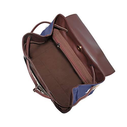 Olde engelsk bulldog-ryggsäck handväska mode PU-läder ryggsäck ledig ryggsäck för kvinnor