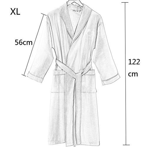 Asciugamano Accappatoio bagno Accappatoio da XL di unisex Cotone scialle paragrafo bianca Accappatoio Assorbimento d'acqua lusso dimensioni Accappatoio con Modelli Sottile dxwSP7xq