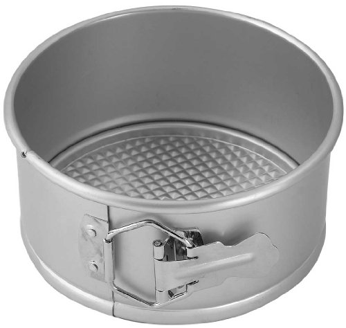 WINCO AASP-063 Springform Pan with Detachable Bottom, 6-Inch, Anodized Aluminum Aluminum Springform Cake Pan