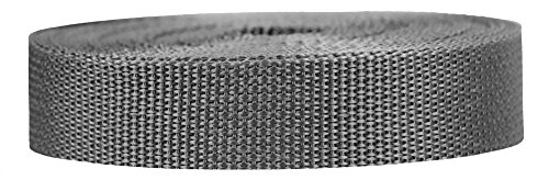 - Strapworks Lightweight Polypropylene Webbing - Poly Strapping for Outdoor DIY Gear Repair, Pet Collar, Crafts - 1 Inch x 10 Yards - Charcoal