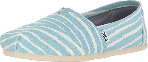 TOMS Women's Seasonal Classics Pale Blue Painted Stripe Loafer