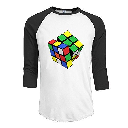 on 3/4 Sleeve Raglan T-Shirt Black Large ()