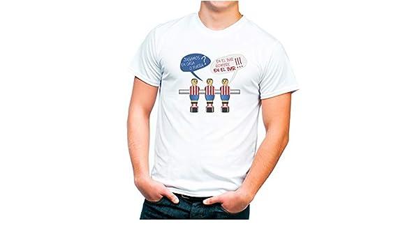 Camiseta Diseño Original Futbolin Colores Atlético. Talla Adulto ...