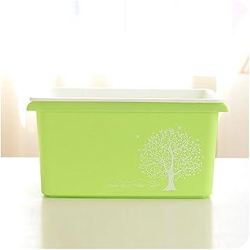 XXAICW Caja de almacenaje plástica con tapa rey edredón almacenamiento cajas juguetes gruesos casa pequeña caja