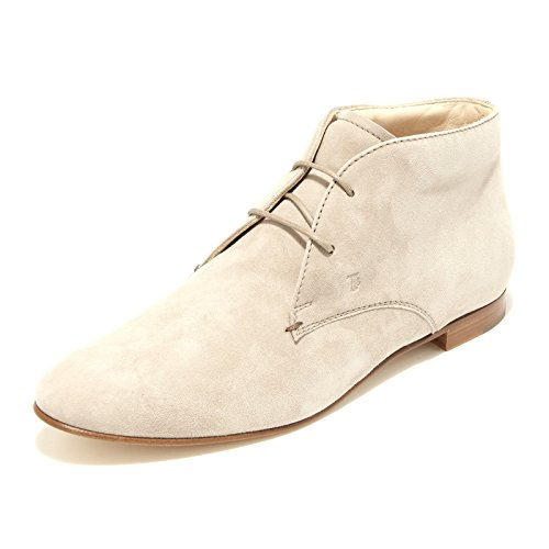 Tod's Shoes Scarpa Boots Donna Women Polacchino 43130 Beige 5q7SUP