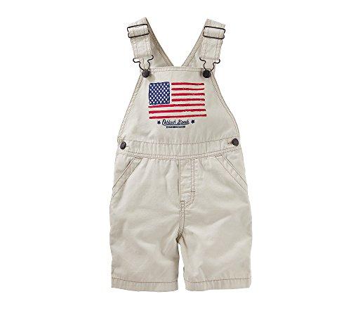 OshKosh B'Gosh Baby Boys American Flag Shortalls 24 Months