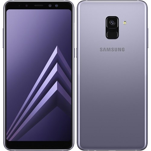 "Samsung Galaxy A8 (2018) Factory Unlocked SM-A530F/DS DUAL SIM 64GB/4GB Ram, 5.6"" Screen, 16MP Rear Camera + Dual Frontal Camera 16MP+8MP, IP68, 4G LTE International Version No Warranty (Orchid Gray)"