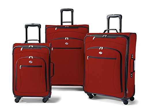 American Tourister Luggage AT Pop 3 Piece Spinner Set (One Size, Red) Atlantic Luggage Luggage Set