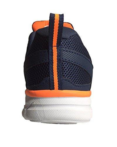Athlethics Works Leichtathletik-Laufschuh für Herren Navy / Orange