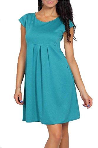 Top Mujer vestido de verano de maternidad embarazo ropa manga corta tamaño 10121416 azul claro