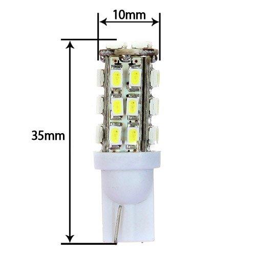 2X Blanc 28 SMD LED T10 W5W 501 194 168 Voiture Cale Interieur Laterale Lampe Ampoule R SODIAL