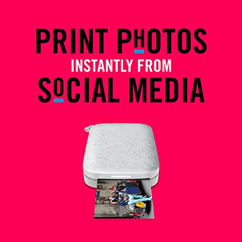 HP Sprocket Portable Photo Printer (2nd Edition) - Instantly Print 2x3 Sticky-Backed Photos from Your Phone - [Luna Pearl] [1AS85A], Small