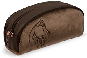 Nici 32689 - Estuche de peluche, diseño de caballo color marrón
