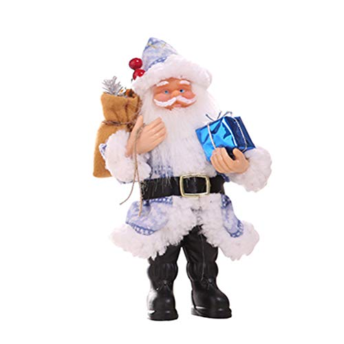 20x12cm Blue Santa Claus Figurine Rustic Resin Christmas Decoration Christmas Ornaments Christmas Gift DIY Ornaments Festival Decoration