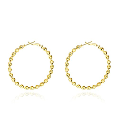 - Botrong Loop Earrings for Women Bridal Wedding Jewelry