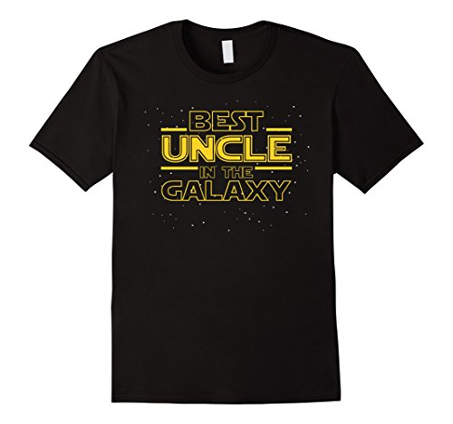 Mens Best Uncle In The Galaxy  Funny Uncle T Shirt Gift Small Black
