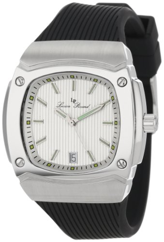 Lucien Piccard Women's LP-440-02S Armada Silver Textured Dial Black Silicone Watch