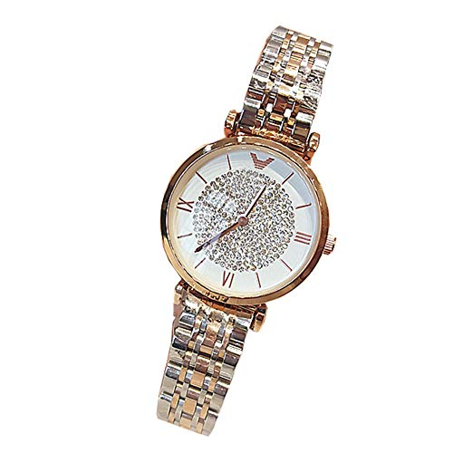 Elegance Stainless Steel Analog - ZBBLJY Women Watches, Ultra Thin Classic Quartz Wrist Watch, Small Analog Dial with Stainless Steel Band,Crystal Diamond Watch,m2