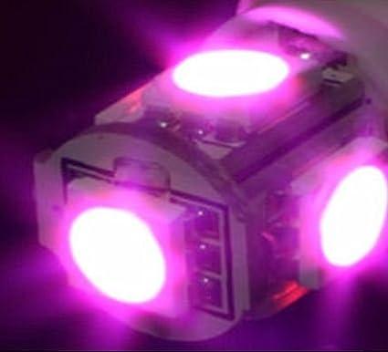 autoled 0023 Pack de 2 tiras de 5 x SMD5050 bombillas LED (T10),