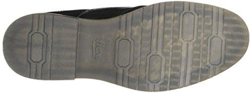 Flexi Jeremy 92402 Heren Zwart Lederen Wingtip Oxford | Kanten Jurk Schoen | Handgemaakt In Mexico Zwart
