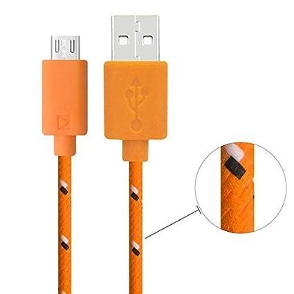 2M trenzado USB 2.0 A a B micro cable de carga de sincronización de datos Cable colorido extralargo robusta tela de nylon para Samsung Galaxy Note, ...