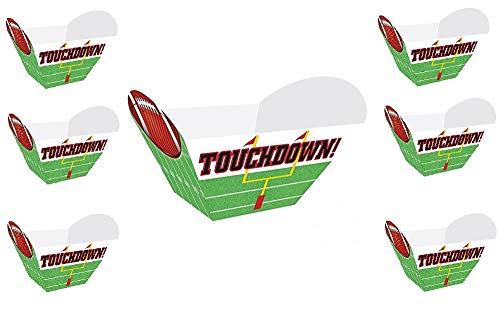 Oojami 6 Pack of Football Touchdown Snack Bowls for Popcorn,Chips,Pretzels, -