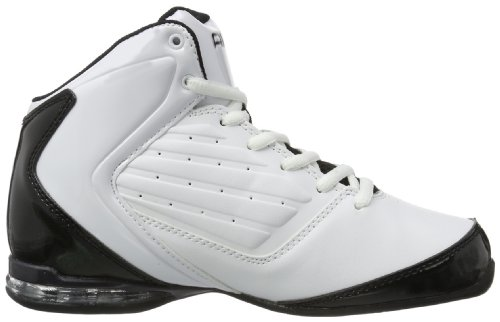 And1 Master 2 Mid - Zapatillas de baloncesto para niños Blanco (Weiß (White/Black-Silver))