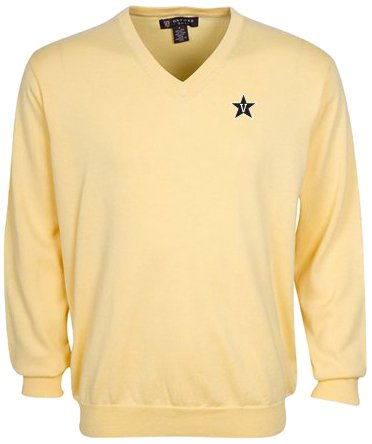 Oxford NCAA Vanderbilt Commodores Men's Devon V-Neck Sweater (Butter, Large) by Oxford