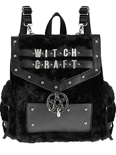 Gotico Pelle Sintetica Pentagramma Zaino Restyle Witchcraft Di Pelliccia Con amp; WXq8RX