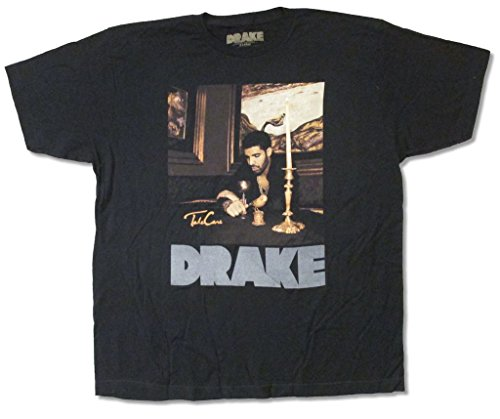 Drake Candles Grey Reflective Logo Black T Shirt Adult - Style Rap Drake