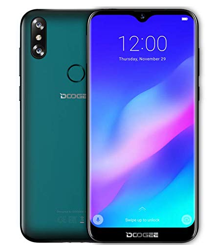 DOOGEE Y8 Android 9 0 4G dual SIM smartphone - 6 1''waterdrop screen(90%  screen ratio), MTK6739 1 5GHz 3GB+16GB, 8+5MP Dual Rear Camera, Face unlock  +