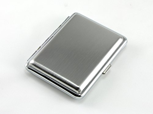 Skyway Barcelona Silver Cigarette Case Holder for Kings - Double Sided - Engravable
