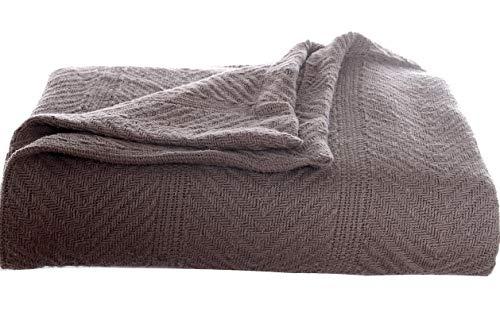 Hebel 200614 Herringbone Cotton Blanket King Mushroom | Model BLNKT - 11 | 25King