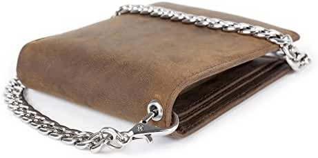 Kings Tailor Designer RFID Blocking Men's Leather Wallet and Chain, Biker's Wallet