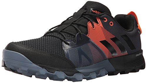 adidas outdoor Men's Kanadia 8.1 Trail Running Shoe, Carbon/Black/Orange, 10 D US (Adidas Trail Running Shoes Men)