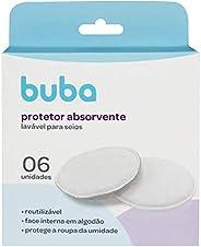 Kit Protetores Absorventes P/Seios Lavaveis, BUBA, Branco