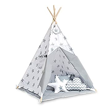 Teepee tent with floor mat - Bright Grey  sc 1 st  Amazon UK & Teepee tent with floor mat - Bright Grey: Amazon.co.uk: Toys u0026 Games