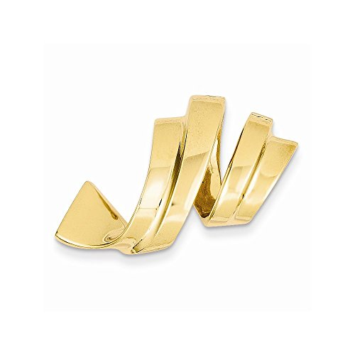 14k Fits up to 8mm on Both Fancy/Regular/Reversible Fancy Omega Slide by Core Gold