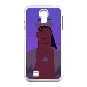 Samsung Galaxy S4 9500 Cell Phone Case White Disney Pocahontas Character Chief Powhatan hfuj