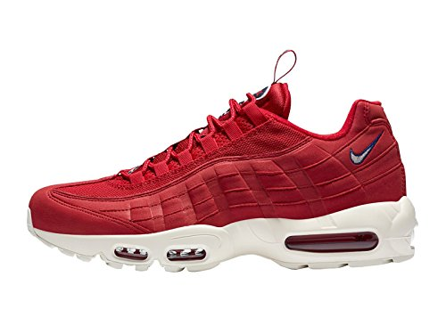 Nike Air Max 95 TT, Scarpe Running Uomo Multicolore (Gym Red/Sail-gym Blu 600)