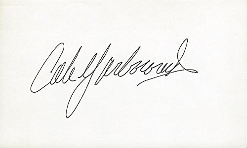 Cale Yarborough Signed Photo - Racing 3x5 Inch Index Card - JSA Certified - NASCAR Cut Signatures