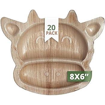 Amazon.com: CaterEco Palm Leaf Plates Set (Pack of 20 ...