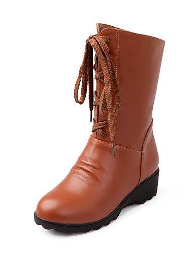 Oficina Plataforma Trabajo Zapatos Uk6 Moda Cn34 De Brown Eu35 Botas Brown Cn39 Xzz Casual Comfort Vestido Mujer La us8 Exterior Uk3 Y Semicuero Eu39 A us5 negro wt7dwqvR