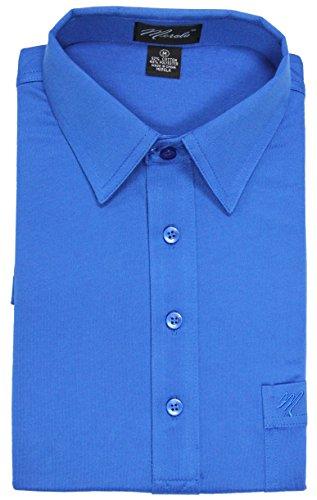 - Merola Short Sleeve Pocket Polo Shirt (LARGE, ROYAL)
