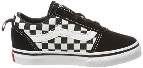 Pvc checkers Ward Unisex Canvas 24 Slip on true White Sneaker 0 Bimbi Black Vans Nero 6qxwZ6