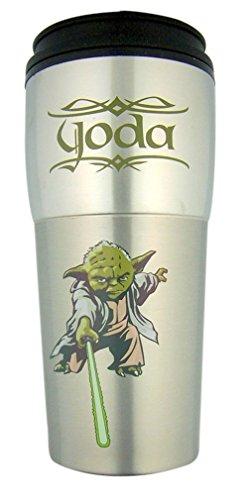 Star Wars Yoda 16 Ounce Steel Travel Mug