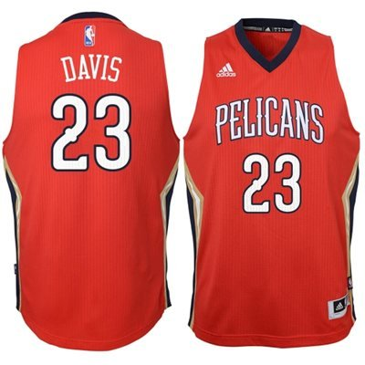 Anthony Davis New Orleans Pelicans Youth Red NBA Swingman Alternate Jersey (X-Large)