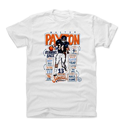 (500 LEVEL Walter Payton Cotton Shirt X-Large White - Vintage Chicago Football Men's Apparel - Walter Payton Stats )