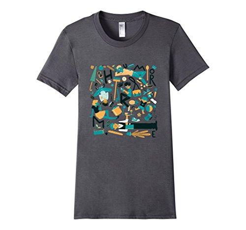 Women's Humor Me T-Shirt Large Asphalt